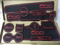 FIAT 500 2016 - 2018 INTERIOR DASHBOARD GATE PAD SET FACE LIFT MODEL ONLY IN RED
