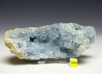 LARGE CELESTITE / CELESTINE CRYSTAL GEODE + FREE STAND Raw Mineral Healing 516g