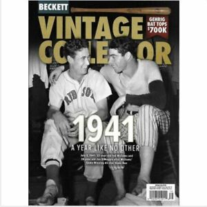 June/July 2021 Beckett Vintage Collector Price Guide, Ted Williams, Joe DiMaggio