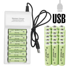 Lot AA Rechargeable Batteries NiCd 700mAh 1.2v Garden Solar Ni-Cd Light LED A20