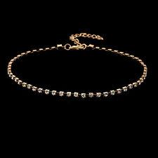 Crystal Bib Collar Choker Necklace Rhinestone Pendant Jewelry For Women zty