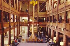LOBBY OF THE MANY GLACIER HOTEL, GLACIER NAT'L PARK, MT Swiftcurrent Lake 1959