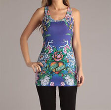 Ed Hardy Ladies Attractive Rose Print Tunic in Size L