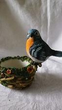 Teelicht Teelichthalter Vogel mit Nest / Korb für Teelichter bis 5 cm
