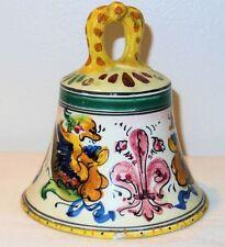 Vintage Hand Painted Italian Pottery Raffaellesco Deruta Bell Signed Italy B 69