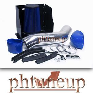 BLUE 2003-2007 HUMMER H2 6.0 6.0L HEATSHIELD COLD AIR INTAKE KIT SYSTEMS