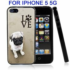 Pug Love With Paw For Iphone 5 5G Case Cover