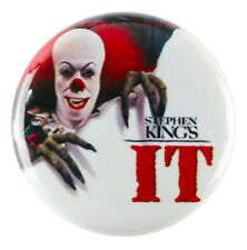 """1"""" (25mm) Pennywise Killer Clown Stephen King IT Button Badge Pin - Custom Badge"""