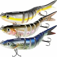 """TRUSCEND Fishing Lures for Bass 4.9"""" Multi Jointed Swimbaits Slow Sinking Har..."""
