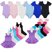Girls Kids Toddler Gymnastics Ballet Dress Leotard Tutu Skirt Dance wear Costume
