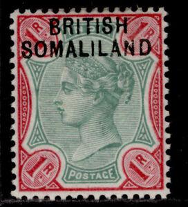 SOMALILAND PROTECTORATE QV SG10, 1r green & aniline-carmine, LH MINT.