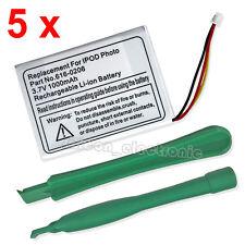 5 x New 3.7V 1000mAh Li-ion Battery For Apple iPod 4G 4th Gen Photo U2 20GB 40GB