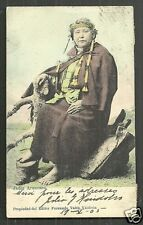 Araucana Indian Woman Costume Valck Chile stamps 1899