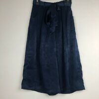 4SI3NNA Tie Front Satin Culottes Sz S
