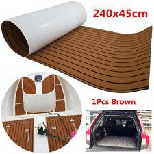 Brown 2.4M Car Trunk Floor Carpet Foam Self-Adhesive Non-skid Teak Decking Pad