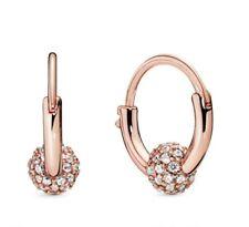 Earring Women's Earrings for women 925 Sterl 2019 New Autumn Rose Pave Bead Hoop