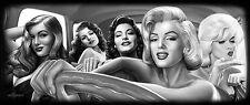 DGA Marilyn Monroe Blonde Stretched Canvas Framed Wall Art 16x40 Inch Bombshells