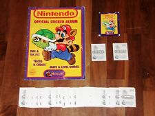 Nintendo Official Sticker album by Merlin 1992 Complete set, near-Empty Album &.
