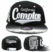 Compton New Leader Straight Outta Out of Flash Black White Snapback Era Hat Cap