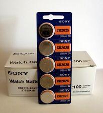 5 NEW SONY CR2025 3V Lithium Coin Battery Expire 2026 FRESHLY NEW - USA Seller