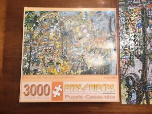 Bits And Pieces CRAZY BBQ 3000 Piece Jigsaw Puzzle 32 in. x 45 in. ALL PIECES!!