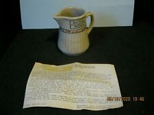 VINTAGE 1989 RED WING POTTERY COLLECTORS SOCIETY GRAY LINE PITCHER