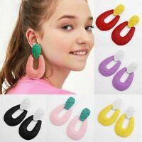 Fashion Bohemian Jewelry Alloy Ear Stud Earrings Water Drop Dangle Women Gift