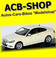 Mercedes Benz C Klasse Coupe 2011-15 C204 diamond weiß white metallic 1:43 Norev