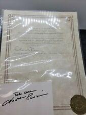 Mitch Pileggi The X-Files Autograph Signature with Coa