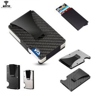 Kreditkartenetui Geldbörse RFID Schutz Kartenhalter Geldklammer Aluminium Carbon