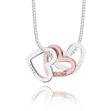 Joma Jewellery Adrianna Love Hearts Silver & Rose Gold Necklace, gift idea her