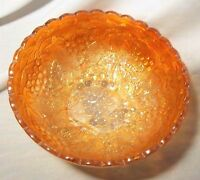 "VINTAGE IMPERIAL MAGNOLIA CARNIVAL GLASS GRAPE PATTERN 6 1/2"" BOWL"