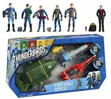 Thunderbirds Are Go 4 Piece Vehicle Super Set + 6 Action Figures Tracy's & Hood