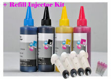 4 x 100ml Compatible Pigment Refill Ink Set pour Epson Cartouches Rechargeables