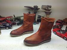 VINTAGE 97RED WING IRISH SETTER USA BROWN LEATHER ENGINEER TRAIL BOSS BOOTS 7EEE