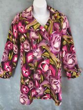 Missoni for Target Trench Coat Size Large Floral Print NWOT