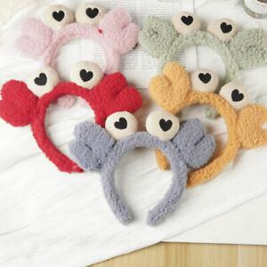 Cute 3D Crab Animal Wide Headband Yoga Spa Bath Wash Face Soft Furry Hairband