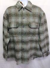 NWT 26 Red Brand Lines Men's Outdoorsmen Heavy Shirt 100% Cotton Green Plaid M