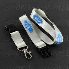 For Ford Lanyard Cell Phone Keychain Badge Holder Quick Release Key Chain-Silver