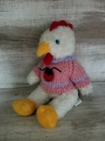 ADORABLE HUGFUN CURLY HAIRED ROOSTER CHICKEN PLUSH JOINTED STUFFED