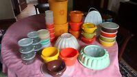 Tupperware Huge Vintage Lot Autumn Harvest/ Pastel: containers/lids/molds