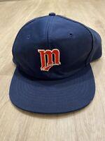 Vintage Universal Minnesota Twins Hat RARE MLB SnapBack VTG 90s Navy Blue
