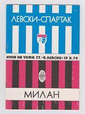 Orig.PRG   UEFA Cup  1978/79   LEWSKI SPARTAK SOFIA - AC MAILAND  !!  SELTEN