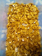 Lego Pearl Gold Brick Modified 1X2X2/3 No Studs wing End 100 Pieces NEW