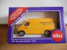 """Siku Mercedes Sprinter :Schnelle Post"""" in Yellow on 1:55 in Box (Siku nr: 1929)"""