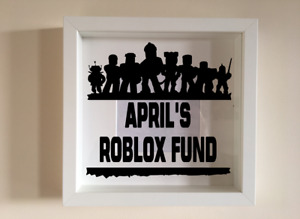 Box Frame Vinyl Decal Sticker Wall art Quote Personalised Roblox Fund
