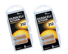 Duracell 312 Hearing Aid 12 x Batteries Brown Tab Activair 1.45v PR41 Easytab