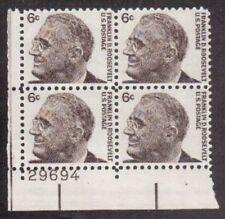 ALLY'S STAMPS US Plate Block Scott #1284 6c FDR - Roosevelt [4] MNH OG