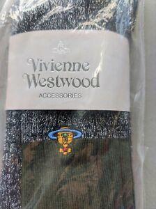 Vivienne Westwood Mid-Calf socks Cotton -Stripes- RoyalBlue with silver velvet