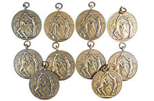 Gt. Britain sports VOLLEY BALL group of 10 unawarded medals bronze 33mm